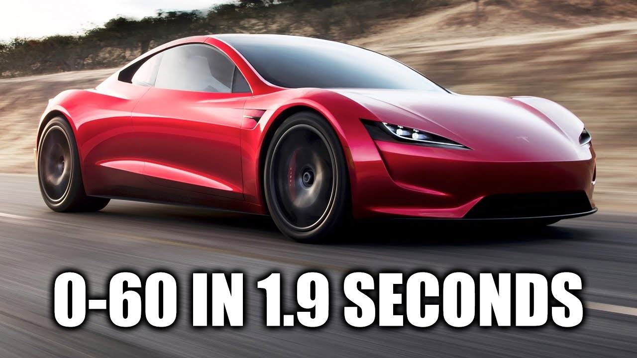 Tesla roadster 0 96 km h 1 9 for H and r auto motors